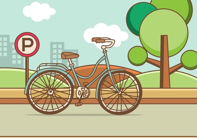 Retro Illustration Bicycle - Free vector #414535