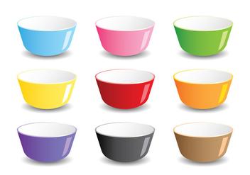 Mixing Bowls - Kostenloses vector #414825