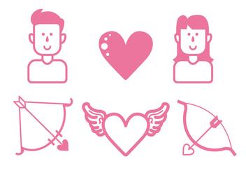 Love Icon Set - Free vector #414835
