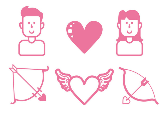 Love Icon Set - Kostenloses vector #414835