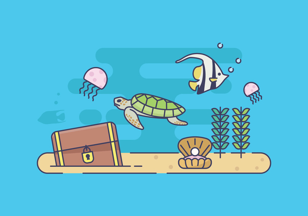Free Seabed Illustration - Free vector #414875