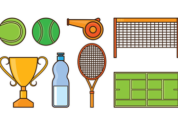 Set Of Tennis Icons - Free vector #414895