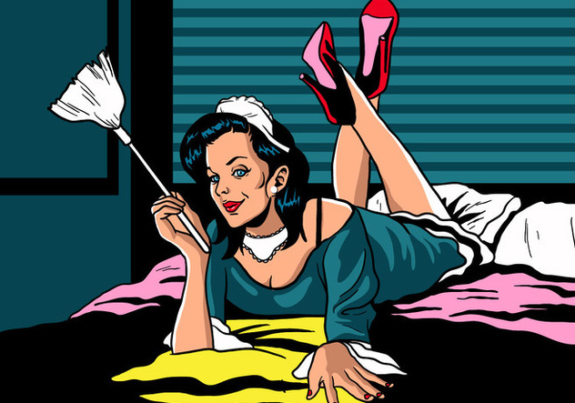 Sexy French Maid - vector #414905 gratis