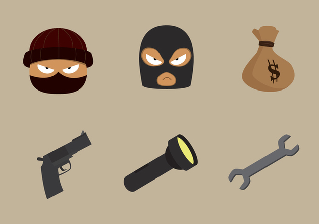 Theft and Robber Vector Stuff - vector #414945 gratis