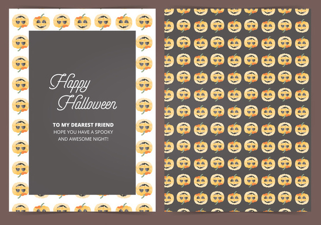 Vector Halloween Card - vector #414965 gratis