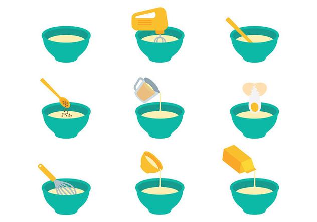 Free Mixing Bowl Icons Vector - vector #415015 gratis