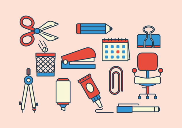 Free Stationery Icons - vector #415045 gratis
