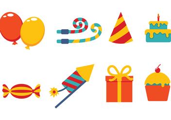 Party Icons Vector - бесплатный vector #415125