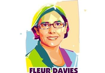 Fleuer Davies - Scientist Life - Popart Portrait - бесплатный vector #415135