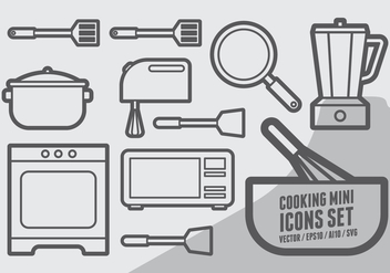 Cooking Mini Icons Set - vector #415175 gratis