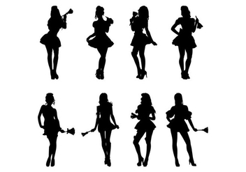 Free Maid Silhouettes Vector - Kostenloses vector #415535