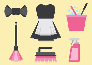Free French Maid Icons Vector - Free vector #415545