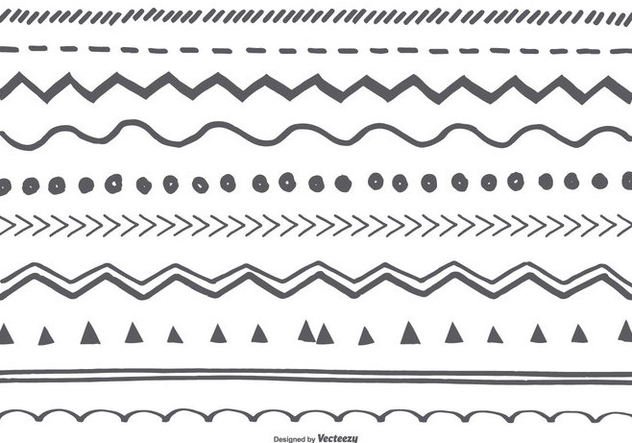 Cute Sketchy Borders Collection - Free vector #415625