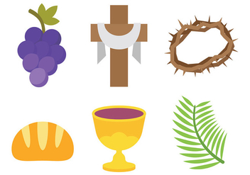 Free Holy Week Icons Vector - Free vector #415725