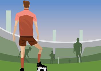 Soccer Player Ready to Free Kick Vector - Free vector #415795