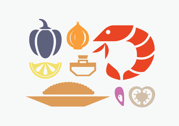 Spanish paella ingredient - Free vector #415885