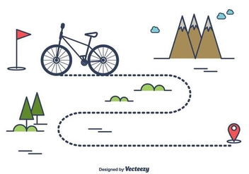 Bike Trail Vector - vector gratuit #416135