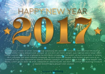 Happy New Year 2017 Vector Background - Free vector #416415