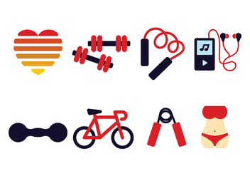 Fitness Icon Pack Vector - vector gratuit #416635