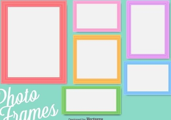 Colorful Vector Photo Frames - vector gratuit #417255