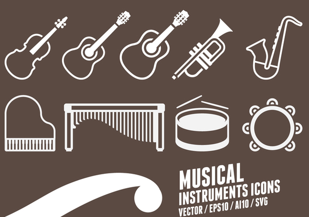 Musical Instruments Icons - Kostenloses vector #417585