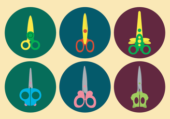 Cute Scissors Vector Set - Free vector #417605