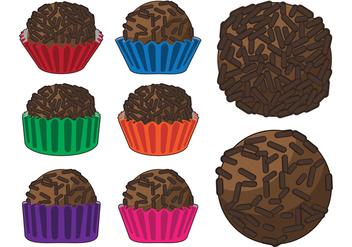 Brigadier Chocolate Truffle Vectors - Free vector #417635