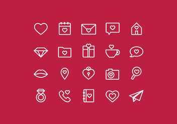 Vector Outline Valentine's Day Icons - Free vector #417895
