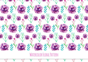 Cute Free Vector Floral Pattern - Kostenloses vector #418095