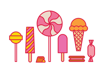 Sweet icons - vector #418245 gratis