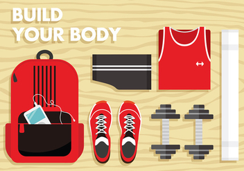 Dumbell Gym Set Free Vector - Free vector #418305