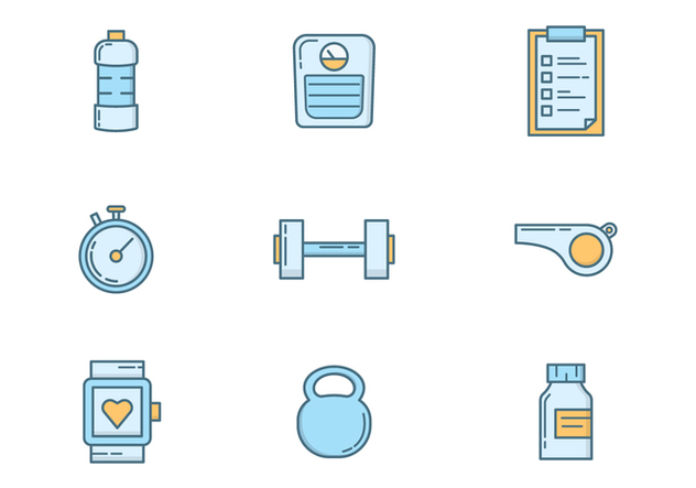 Free Gym and Fitness - Free vector #418325