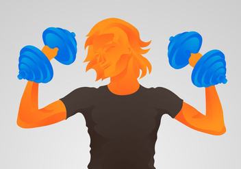 Free Dumbell Vector Illustration - Free vector #418575