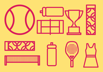Tennis icons - Free vector #418655