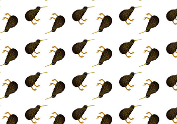 Free Kiwi Bird Seamless Pattern Vector Illustration - бесплатный vector #418665