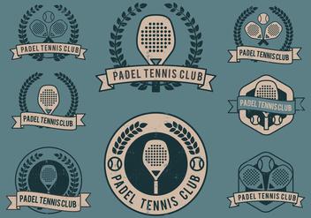 Padel Club Logos - Kostenloses vector #418845
