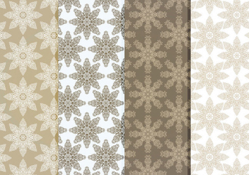 Vector Delicate Snowflakes Pattern Set - Free vector #418925