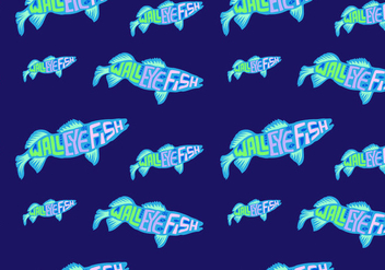 Free Walleye Seamless Pattern Vector Illustration - Kostenloses vector #418945