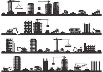 Free Construction Silhouette Vector - Kostenloses vector #418965