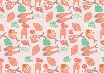 Fish Fry Pattern Vector - бесплатный vector #419125