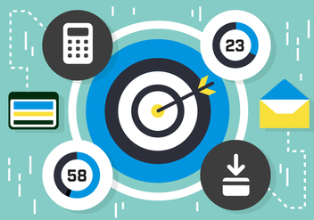 Free Flat Media Marketing Vector Elements - Kostenloses vector #419205