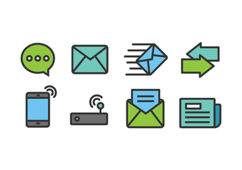 Communication Icons - vector #419235 gratis