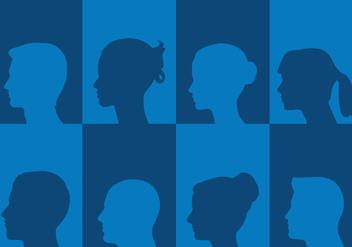 Profile Silhouettes - Free vector #419325