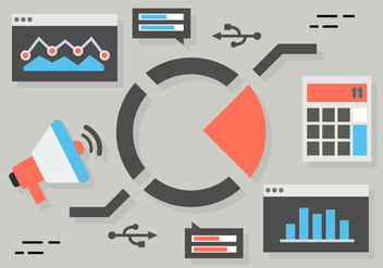 Free Flat Digital Marketing Concept Vector - Kostenloses vector #419355