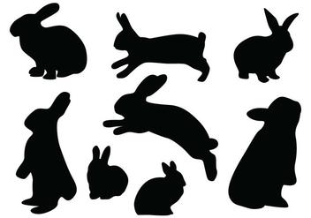 Rabbit Silhouette Vectors - бесплатный vector #419395