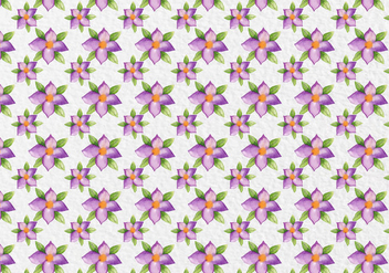 Free Vector Watercolor Purple Flowers Pattern - бесплатный vector #419435