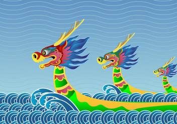Dragon Boat Festival Background - бесплатный vector #419715