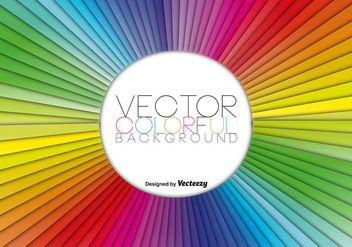 Vector Rainbow Colorful Abstract Template - Free vector #419975