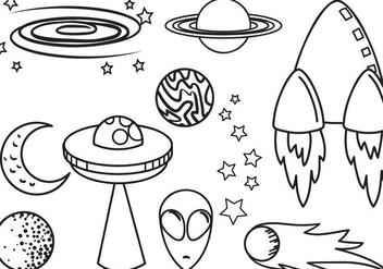 Free Space 2 Vectors - Kostenloses vector #420235