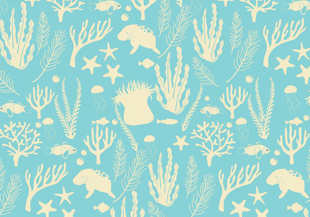 Seabed Pattern Vector - Free vector #420345